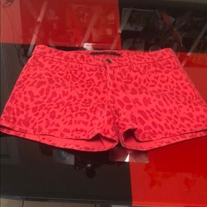 Red cheetah Joe's shorts, size 27